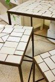 画像4: 輸入家具 パラゴシック ローテーブル3個セット Covent Garden コベントガーデン WM-03 アイアン モザイク 花台 ネストテーブル サイドテーブル アンティーク風 シャビーシック ガーデニング (4)