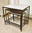 画像5: 輸入家具 パラゴシック ローテーブル3個セット Covent Garden コベントガーデン WM-03 アイアン モザイク 花台 ネストテーブル サイドテーブル アンティーク風 シャビーシック ガーデニング (5)