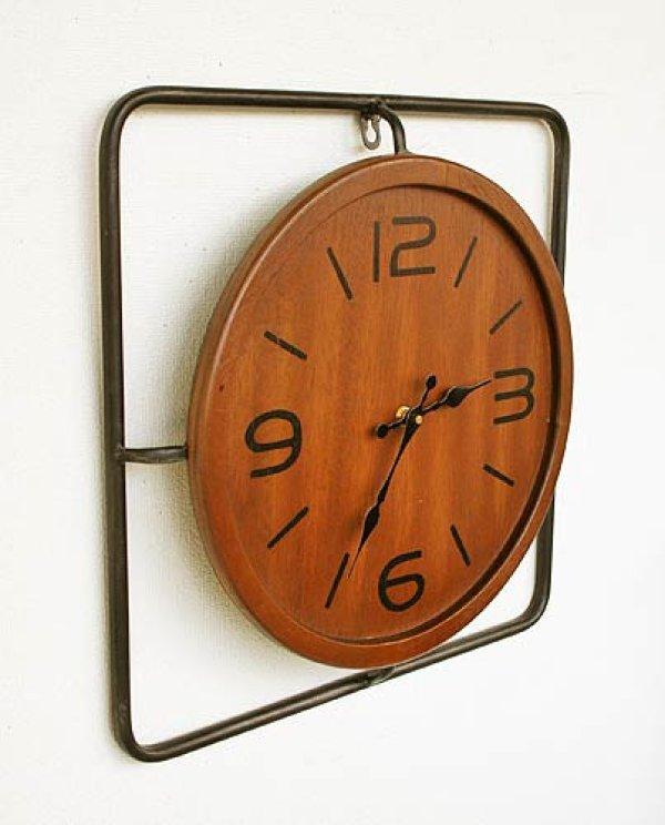 画像1: 輸入雑貨 インダストリアル・クロック Covent Garden WQ-01 掛時計 アイアン ウッド 木製 シャビーシック アンティーク風 (1)