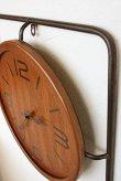 画像5: 輸入雑貨 インダストリアル・クロック Covent Garden WQ-01 掛時計 アイアン ウッド 木製 シャビーシック アンティーク風 (5)