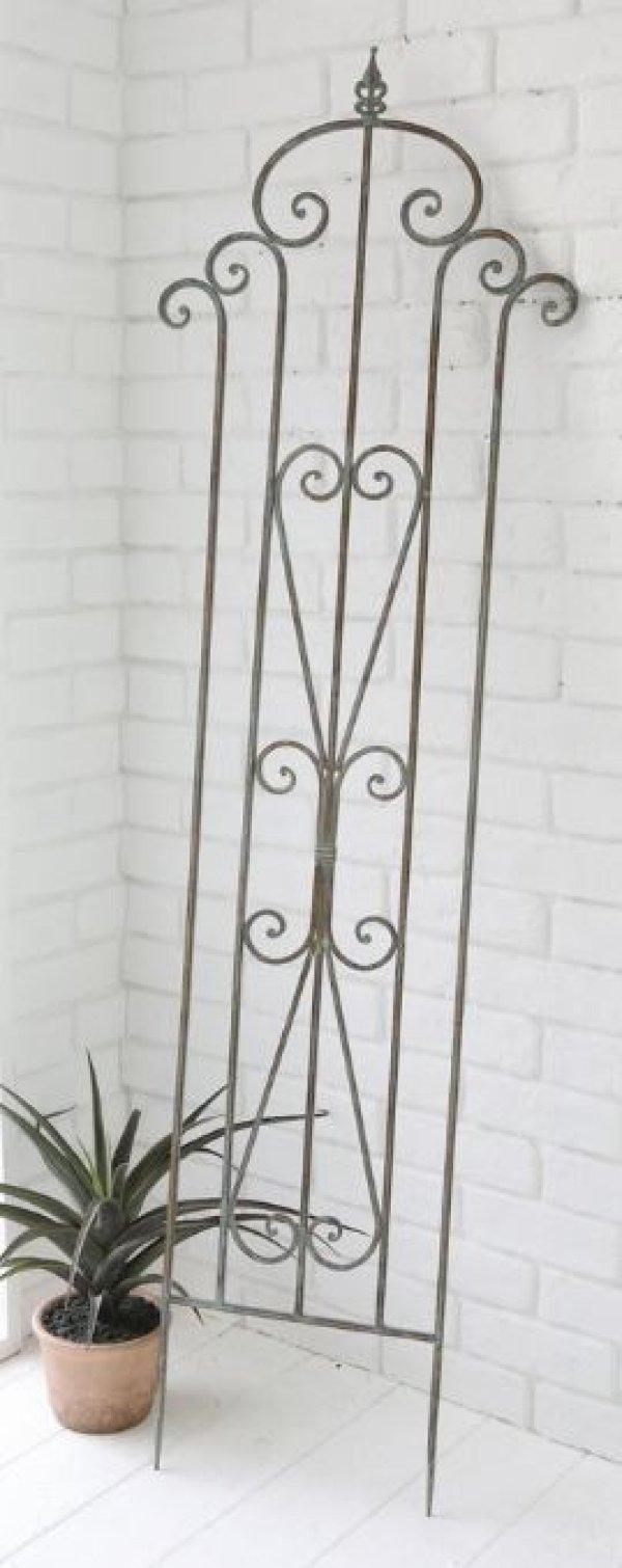 画像1: 輸入家具 アイリス トレリス アイアン フェンス ガーデニング オブジェ エクステリア シャビーシック アンティーク風 Covent Garden コベントガーデン XZ-20 (1)