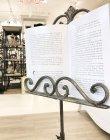画像5: 輸入家具 譜面台 メニュースタンド アイアン ブロンズ アンティーク風 シャビーシック フレンチ イタリアン ビンテージ クラシック リーフ 葉っぱ FM-15 送料無料 (5)