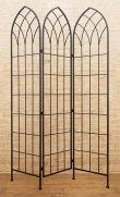 画像1: 輸入家具 スクリーン アイアン ブラック パーテーション つい立 シャビーシック アンティーク風 フレンチ DH19309BK リビングスタジオ (1)