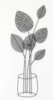 画像1: 輸入雑貨 壁飾り ウォールデコレーション アイアン リーフ 観葉植物 シャビーシック アンティーク風 エレガント 姫系 ナチュラル 1808TSF004 (1)