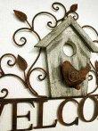 画像3: 輸入雑貨 ウェルカムバードウォールデコ vil 6839 WELCOME アイアン 壁飾り 壁掛け ウォールデコレーション アンティーク風 シャビーシック ガーデン 小鳥 巣箱 (3)