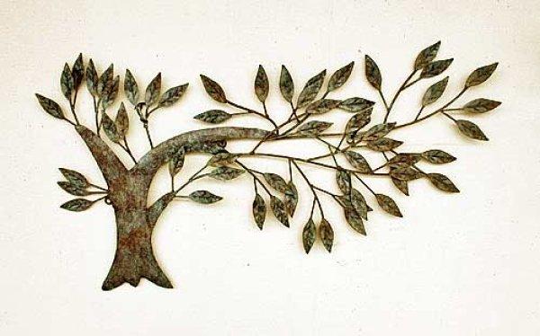 画像1: 輸入雑貨 ウォール ベンド ツリー vil 6887 アイアン ブリキ 壁飾り 壁掛け ウォールデコ ウォールアート 木 風 シャビーシック アンティーク風 (1)