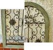 画像3: 輸入雑貨 ウォールデコ ウィンドウ アーチ vil 6903 アイアン 木製 壁飾り 壁掛け パネル 窓 アンティーク風 シャビーシック ビンテージ調 ガーデニング カフェ (3)