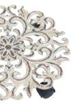 画像3: 輸入家具 プラントキャリーフラワーホワイト プランター台 キャストアイアン キャスター シャビーシック vil 6962 直輸入  リビングスタジオ (3)