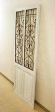 画像3: 輸入家具 アイアン ウッド ダブルドア ホワイト vil 6986 シャビーシック アンティーク風 ブロカンテ フレンチ 壁飾り 壁掛け ウォールデコレーション オブジェ パネル  (3)