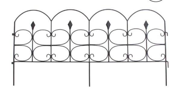 画像1: 輸入雑貨 ガーデンガードミニフェンス アイアン フェンス ガーデン エクステリア アンティーク風 vil 6998 直輸入 リビングスタジオ (1)