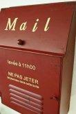 画像4: 輸入雑貨 メタルスリム ポスト レッド 赤 郵便受け メールボックス アイアン シャビーシック アンティーク風 ナチュラル ガーデニング vil 7007 (4)