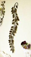 画像1: 輸入雑貨 アイビー ウォールデコ vil 6934 アイアン 壁飾り 壁掛け 葉っぱ リーフ ガーランド アンティーク風 シャビーシック ナチュラル カフェ (1)