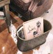 画像3: 輸入雑貨 プランター 鉢カバー マガジンラック ダストボックス ブリキ アイアン 楕円 シャビーシック アンティーク風 ビンテージ風 ガーデニング FM-318 (3)