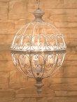画像1: 輸入雑貨 オリエンタル ペンダントランプ 4灯 吊り下げ 照明 アイアン ホワイト アンティーク風 シャビーシック FX19159WH 送料無料 直輸入 リビングスタジオ (1)