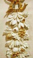 画像3: イタリア製 輸入雑貨 ウォールデコレーション フルーツ 壁掛け 壁飾り ロココ ホワイト ゴールド アンティーク風 姫系 樹脂製 G1-C1501 ISAS イサス 直輸入 リビングスタジオ (3)