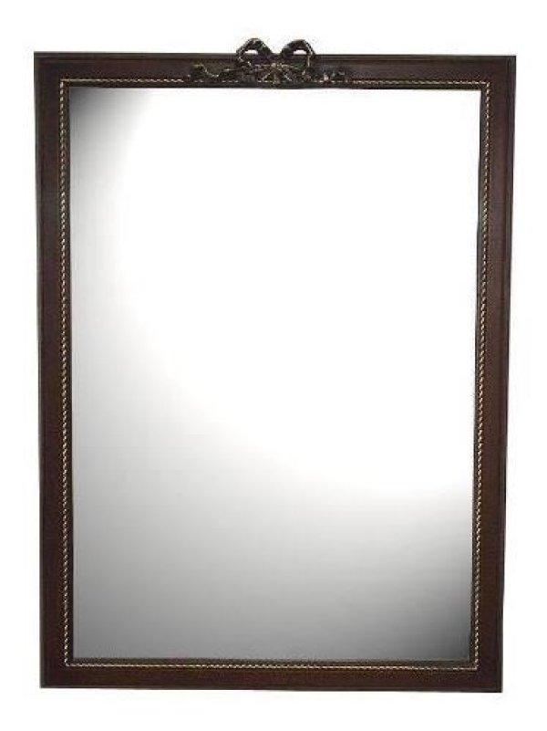 画像1: イタリア製 輸入雑貨 ミラー リボン ブラウン 長角 Simo シモ クラシック 彫刻 アンティーク風 21-7017 送料無料 直輸入 リビングスタジオ (1)