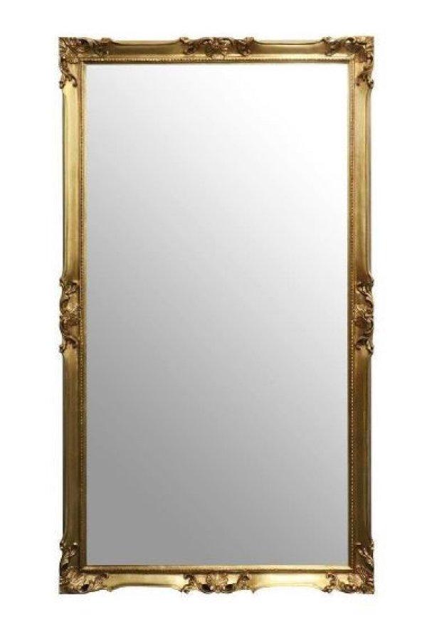 画像1: イタリア製 輸入家具 ミラー 姿見 鏡 ゴールド ロココ 82X142 大型 Simo シモ 彫刻 アンティーク風 3037P 送料無料 直輸入 リビングスタジオ (1)