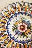画像3: ポルトガル製 輸入雑貨 絵皿 飾りプレート アルコバサ ハンドメイド クラシック 伝統柄 40cm REB-474 送料無料 直輸入 リビングスタジオ (3)