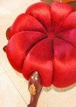 画像5: 輸入家具 スツール パンプキン レッド ベルベット ネコ脚 ブラウン イタリアン フレンチ クラシック 208044 リビングスタジオ 送料無料 (5)