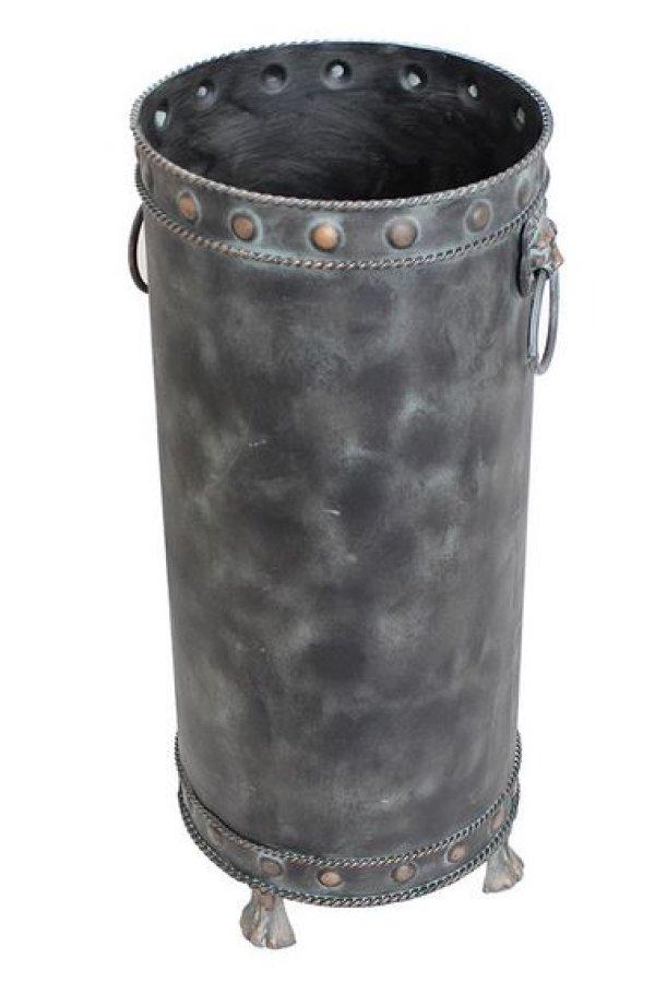 画像1: 輸入雑貨 傘立て アイアン ブリキ ブロンズ風 ライオン アンティーク風 ブロカンテ シャビーシック 青銅 イタリアン カフェ 重厚 FM-549 (1)