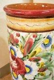 画像3: イタリア製 輸入雑貨 傘立て 陶器 ストレート 花柄 ローズ ピンク グラフィート  Ilponte イルポンテ トスカーナ アンティーク風 送料無料 96797 直輸入 リビングスタジオ (3)