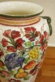 画像2: イタリア製 輸入雑貨 直輸入 陶器 傘立て フルーツ ブドウ 手描き 大花瓶 Ilponte イルポンテ 932270 送料無料 リビングスタジオ (2)