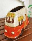 画像5: 輸入雑貨 フラワーポット キャンピングカー オレンジ プランター フラワーベース ジブリ風 カントリー ナチュラル ガーデン 29265 (5)