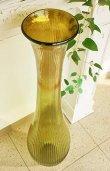 画像2: 輸入雑貨 Grande フルートベース LL 花瓶 ガラス アンバー グリーン 手吹き H98cm シャビーシック アンティーク風 レトロ CGD-51 送料無料 (2)