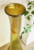 画像3: 輸入雑貨 Grande フルートベース LL 花瓶 ガラス アンバー グリーン 手吹き H98cm シャビーシック アンティーク風 レトロ CGD-51 送料無料 (3)