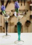 画像7: 輸入雑貨 Violet カップベース フラワーベース キャンドルスタンド ガラス 紫 バイオレット アンティーク風 モダン リビングスタジオ H39.5cm CGD-54 (7)