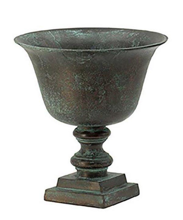 画像1: 輸入雑貨 フラワーベース 花瓶 プランター フラワーポット カップ メタル アイアン シャビーシック アンティーク風 ビンテージ調 H26.5cm AN-44970 送料無料 (1)